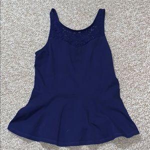 navy blue dress tank top